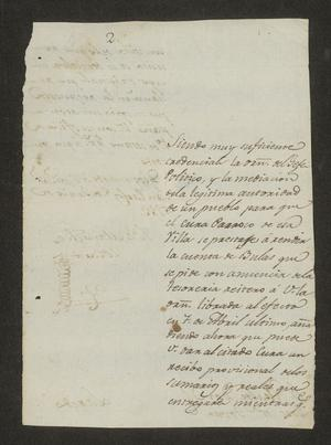 Primary view of object titled '[Letter from José Manuel de Zozaia to José María Tovar, June 5, 1823]'.