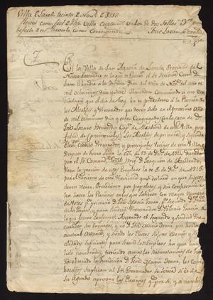 Primary view of [Messages from Tomás García Davila and Juan Echeandía]