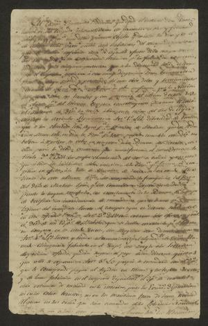 Primary view of [Letter from Pedro Paredes y Serna to José Francisco de la Garza, April 22, 1823]