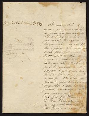 Primary view of [Message from José María Echeagaray to Ildefonso Ramón, May 17, 1819]