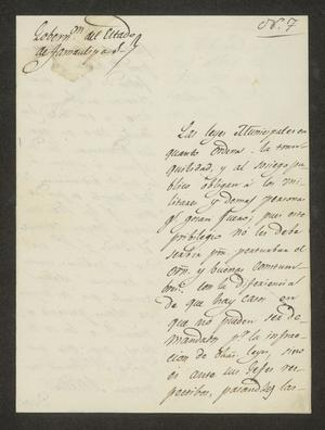 Primary view of object titled '[Letter from Lucas Fernández to the Alcalde in Laredo, April 13, 1826]'.