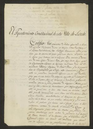 Primary view of object titled '[Statement from the Laredo Ayuntamiento]'.