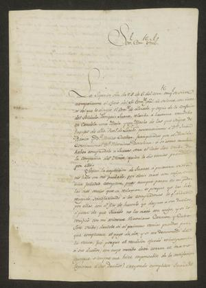 Primary view of object titled '[Letter from José Ignacio Ronquillo to the Commandante General, January 19, 1823]'.