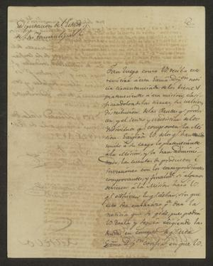 Primary view of object titled '[Letter from Lucas Fernández to the Laredo Ayuntamiento, February 20, 1824]'.