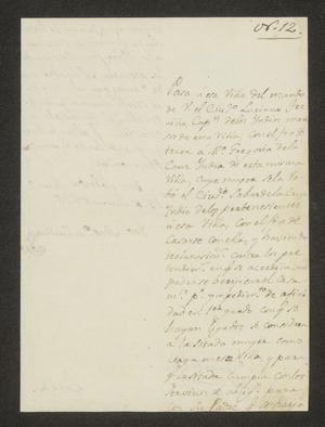 Primary view of [Notice from José Antonio de Cuellar to the Laredo Alcalde, June 15, 1826]
