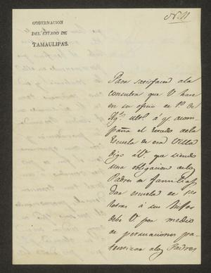 Primary view of [Letter from Lucas Fernández to the Laredo Alcalde, September 23, 1826]