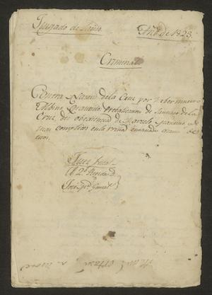 Primary view of object titled '[Documents Pertaining to Judicial Proceedings Against Three Men]'.