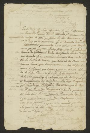 Primary view of object titled '[Statement from Fernando García Dávila]'.