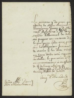Primary view of object titled '[Letter from Joaquín de Arredondo to José María Tovar, February 16, 1815]'.