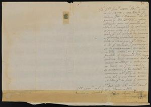 Primary view of object titled '[Message from Pedro López Prietto to the Commander of Laredo, June 17, 1812]'.