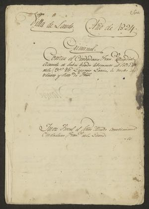 Primary view of object titled '[Proceedings of the Case of Francisco Mendiola]'.