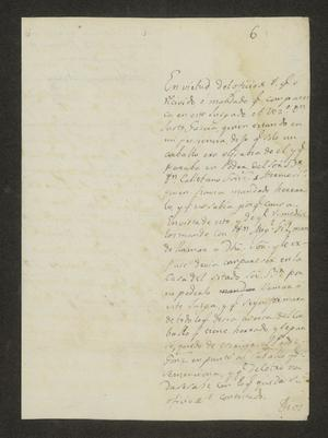 Primary view of [Letter from José Domingo Soberón to the Laredo Alcalde, February 6, 1823]