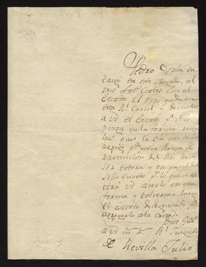 Primary view of object titled '[Letter from José Antonio Benites to José Francisco de la Garza, July 2, 1818]'.
