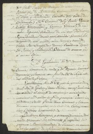 Primary view of [Copy of an Order from the Viceroy]