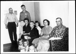 Primary view of object titled '[Family photograph taken at the Linke residence]'.