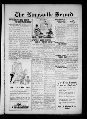 Primary view of The Kingsville Record (Kingsville, Tex.), Vol. 18, No. 20, Ed. 1 Wednesday, January 7, 1925