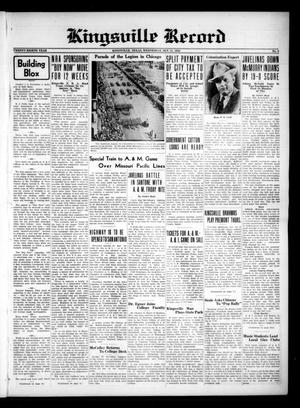 Primary view of Kingsville Record (Kingsville, Tex.), Vol. 28, No. 9, Ed. 1 Wednesday, October 11, 1933