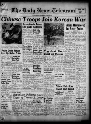 The Daily News-Telegram (Sulphur Springs, Tex.), Vol. 52, No. 259, Ed. 1 Monday, October 30, 1950