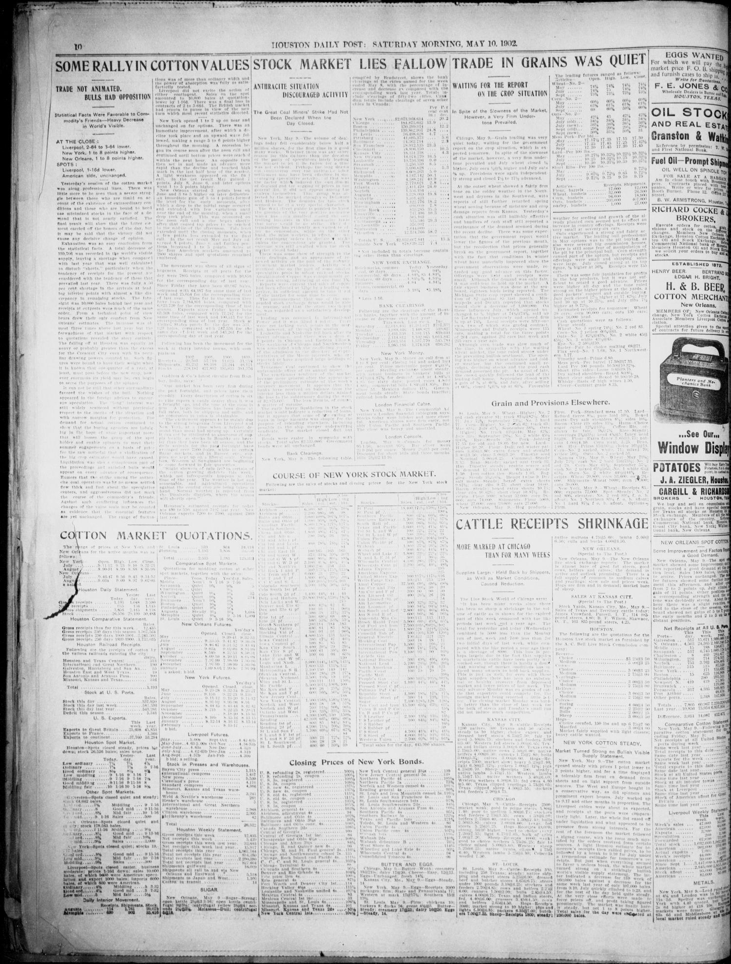 The Houston Daily Post (Houston, Tex.), Vol. XVIIITH YEAR, No. 36, Ed. 1, Saturday, May 10, 1902 [Sequence #]: 10 of 12