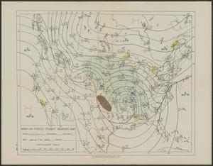 Primary view of object titled '[Army Air Forces Student Weather Map #4, January 2]'.