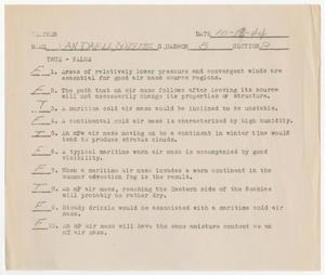 Primary view of object titled '[Weather Exam, October 18, 1944]'.