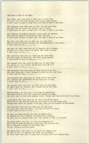 Primary view of object titled '[WASP Song Lyrics #4]'.