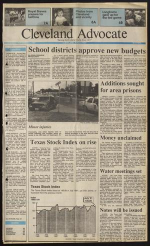 Primary view of Cleveland Advocate (Cleveland, Tex.), Vol. 74, No. 36, Ed. 1 Wednesday, September 4, 1991