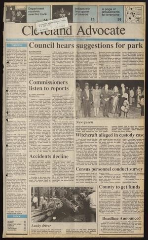 Primary view of Cleveland Advocate (Cleveland, Tex.), Vol. 74, No. 47, Ed. 1 Wednesday, November 20, 1991