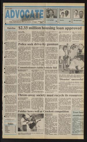 Cleveland Advocate (Cleveland, Tex.), Vol. 73, No. 39, Ed. 1 Friday, September 28, 1990
