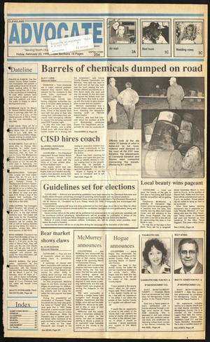 Cleveland Advocate (Cleveland, Tex.), Vol. 73, No. 8, Ed. 1 Friday, February 23, 1990