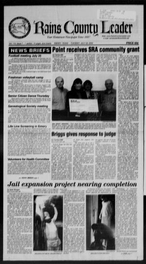 Rains County Leader (Emory, Tex.), Vol. 115, No. 7, Ed. 1 Tuesday, July 23, 2002