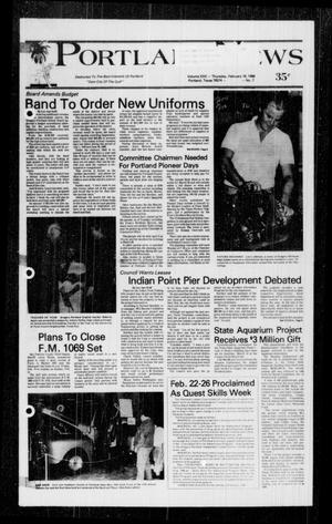 Primary view of object titled 'Portland News (Portland, Tex.), Vol. 22, No. 7, Ed. 1 Thursday, February 18, 1988'.
