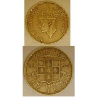 "[Coin from Jamaica. ""King George The Sixth""]"