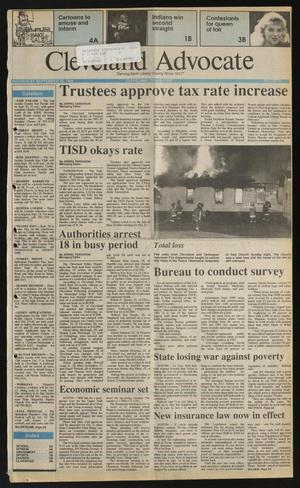 Primary view of Cleveland Advocate (Cleveland, Tex.), Vol. 74, No. 39, Ed. 1 Wednesday, September 25, 1991