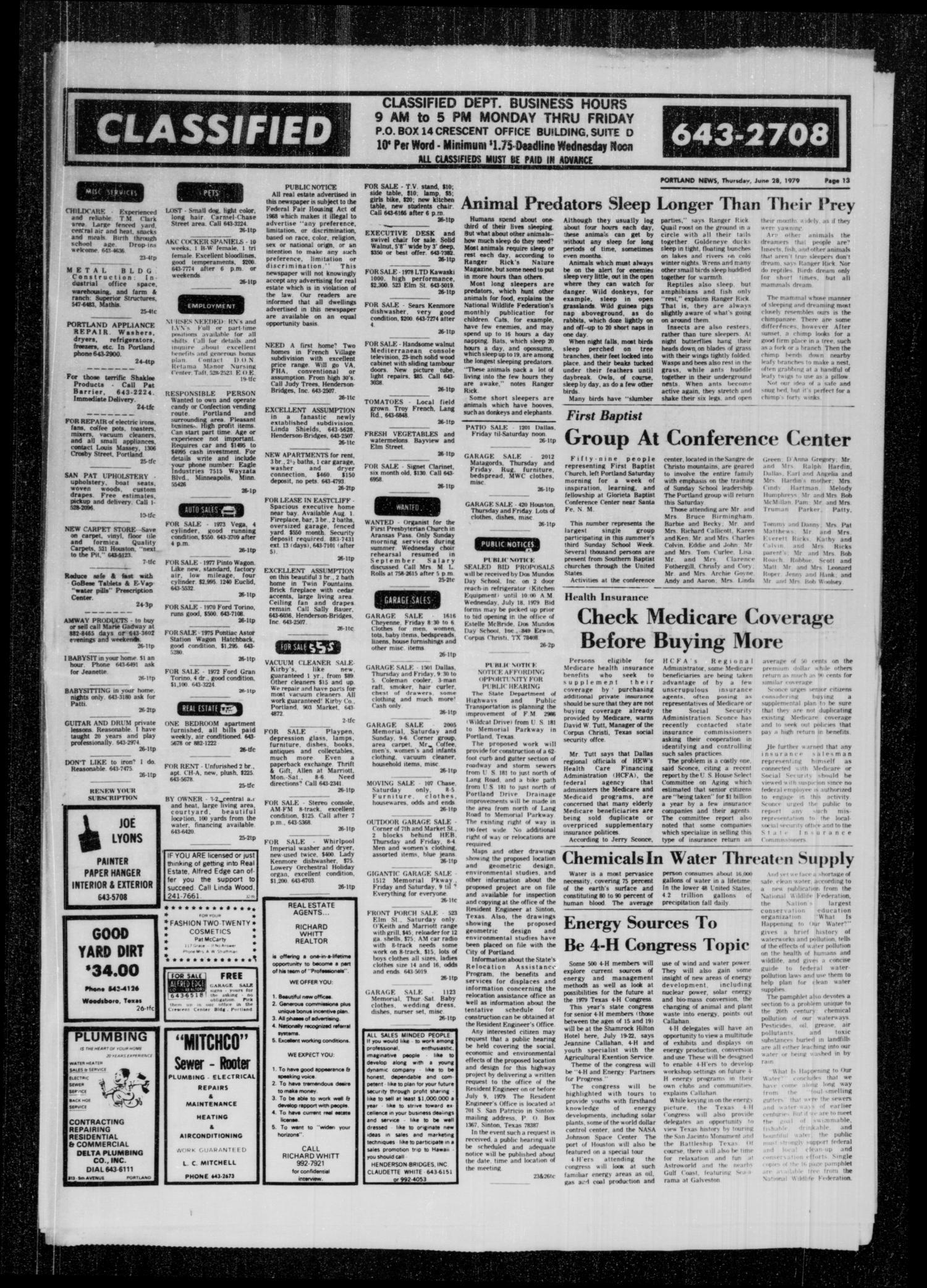 Portland News (Portland, Tex ), Vol  14, No  26, Ed  1