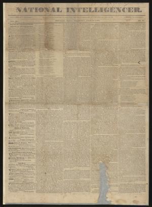 Primary view of object titled 'National Intelligencer. (Houston, Tex.), Vol. 2, No. 27, Ed. 1 Thursday, July 18, 1839'.