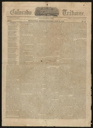 Primary view of object titled 'The Colorado Tribune. (Matagorda, Tex.), Vol. 5, No. 13, Ed. 1 Monday, July 12, 1852'.