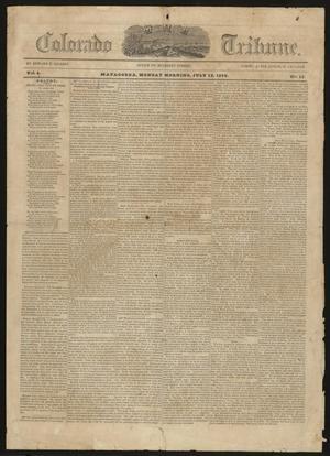 Primary view of The Colorado Tribune. (Matagorda, Tex.), Vol. 5, No. 13, Ed. 1 Monday, July 12, 1852