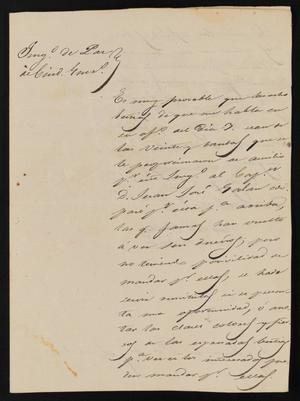 Letter from Trinidad Vela to the Laredo Justice of the Peace, March 9, 1841