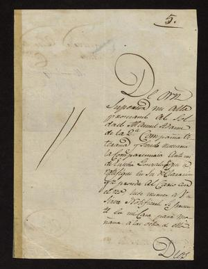 Primary view of [Letter from Manuel Nogaro to the Laredo Alcalde, October 19, 1827]