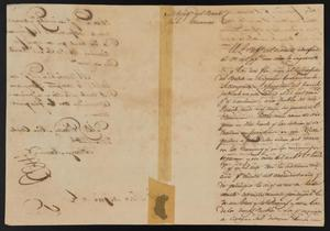 Primary view of object titled '[Letter from Policarzo Martinez to the Laredo Justice of the Peace, October 2, 1841]'.