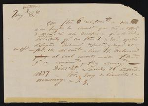 Primary view of [Letter from the Laredo Alcalde to Santiago Vela, March 28, 1837]