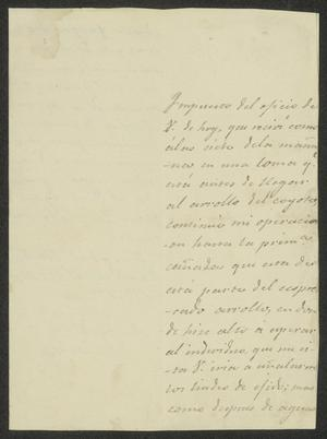 Primary view of [Letter from José Guadalupe de Samano to the Laredo Alcalde, April 21, 1833]