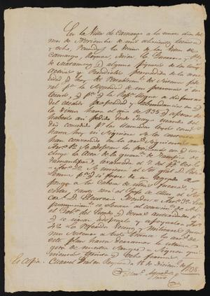 Primary view of object titled '[Copy of a Report Concerning the Tampico Revolt]'.
