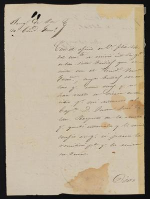 Primary view of object titled '[Letter from Alejo Gutierrez to the Laredo Justice of the Peace, March 28, 1841]'.