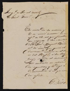 Primary view of object titled '[Letter from Trinidad Vela to the Laredo Justice of the Peace, January 31, 1841]'.