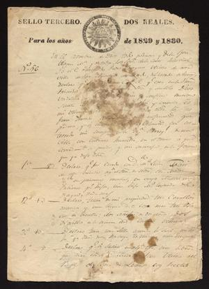 Primary view of object titled '[Will and Testament of Pedro Bosques]'.
