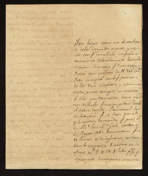 Primary view of [Letter from José Antonio Leal to the Laredo Alcalde, August 21, 1829]