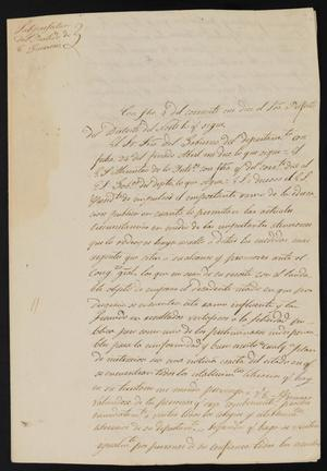 Primary view of [Letter from José Antonio Flores to the Laredo Justice of the Peace, May 19, 1838]