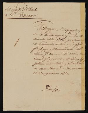 Primary view of object titled '[Letter from Policarzo Martinez to the Laredo Ayuntamiento, February 7, 1842]'.